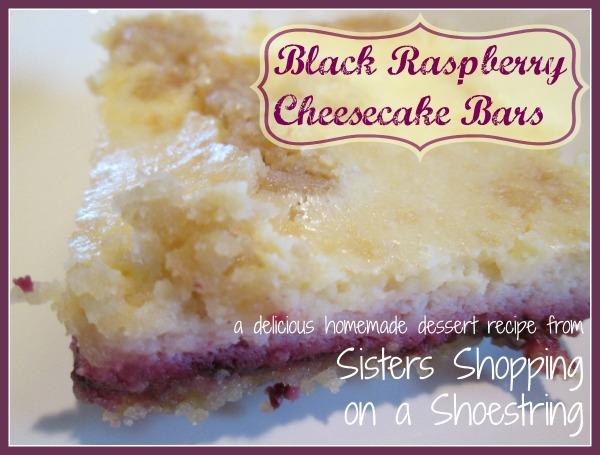 black raspberry cheesecake bars