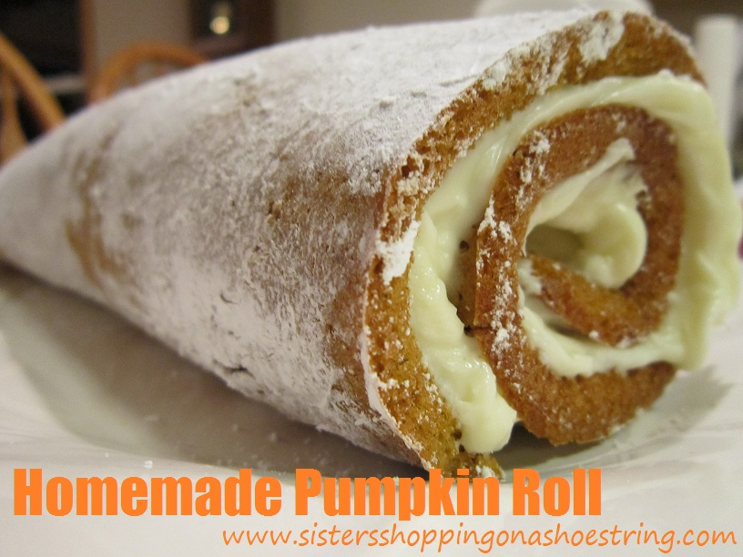 Make your own Pumpkin Roll with this delicious recipe from Sisters Shopping on a Shoestring--it's easier than it looks!