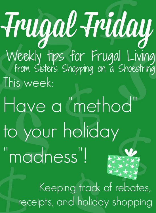 Frugal Friday holiday method