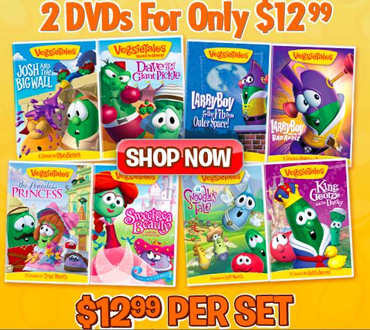 5 VeggieTales DVDs Vacation Entertainment Sisters