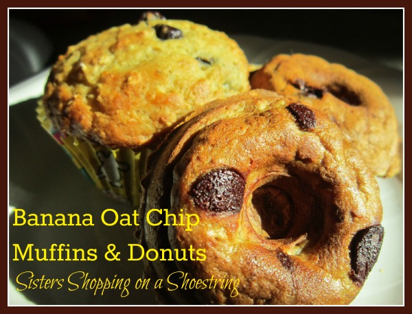 Banana Oat Chip Muffins