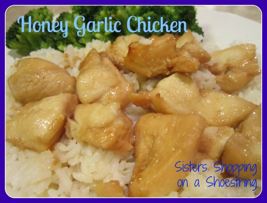 Honey Garlic Chicken from Sisters Shopping on a Shoestring