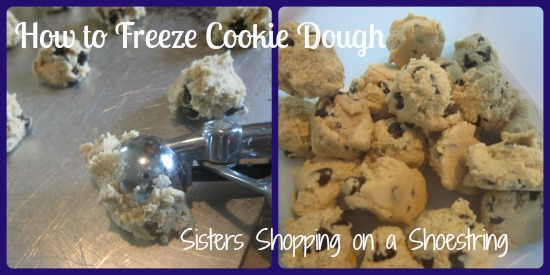 How to Freeze Cookie Dough  Sisters Shopping on a Shoestring