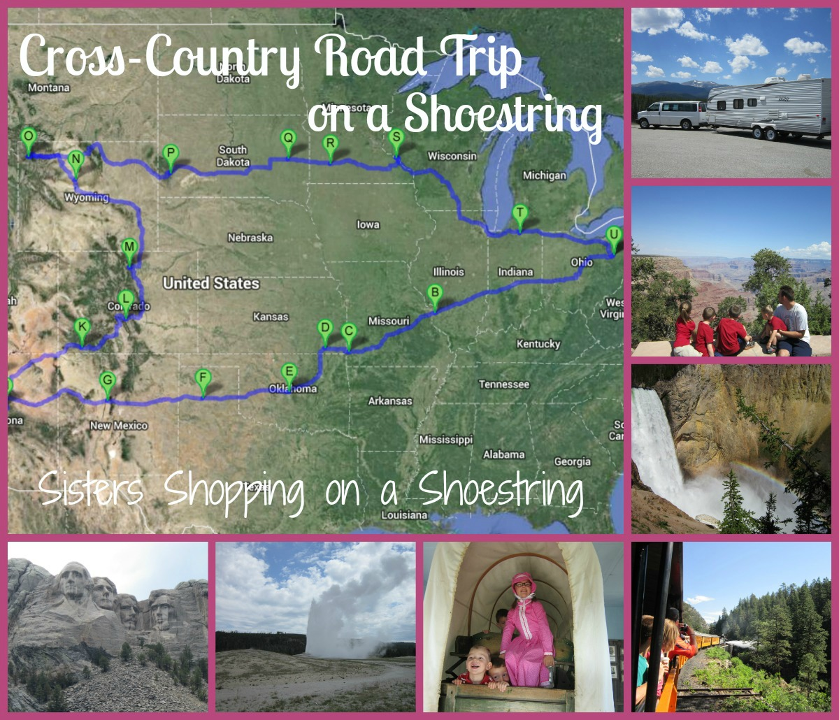 Road trip collage