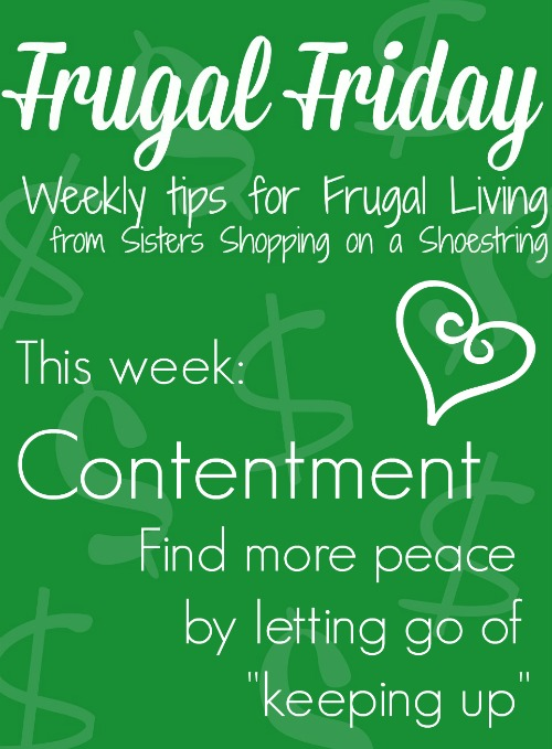 Frugal Friday Contentment