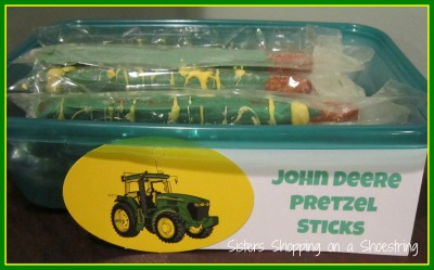 John Deere pretzel sticks