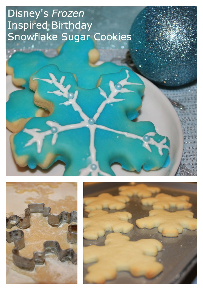 disney frozen snowflake cookie