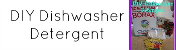 DIY dishwasher detergent sidebar widget
