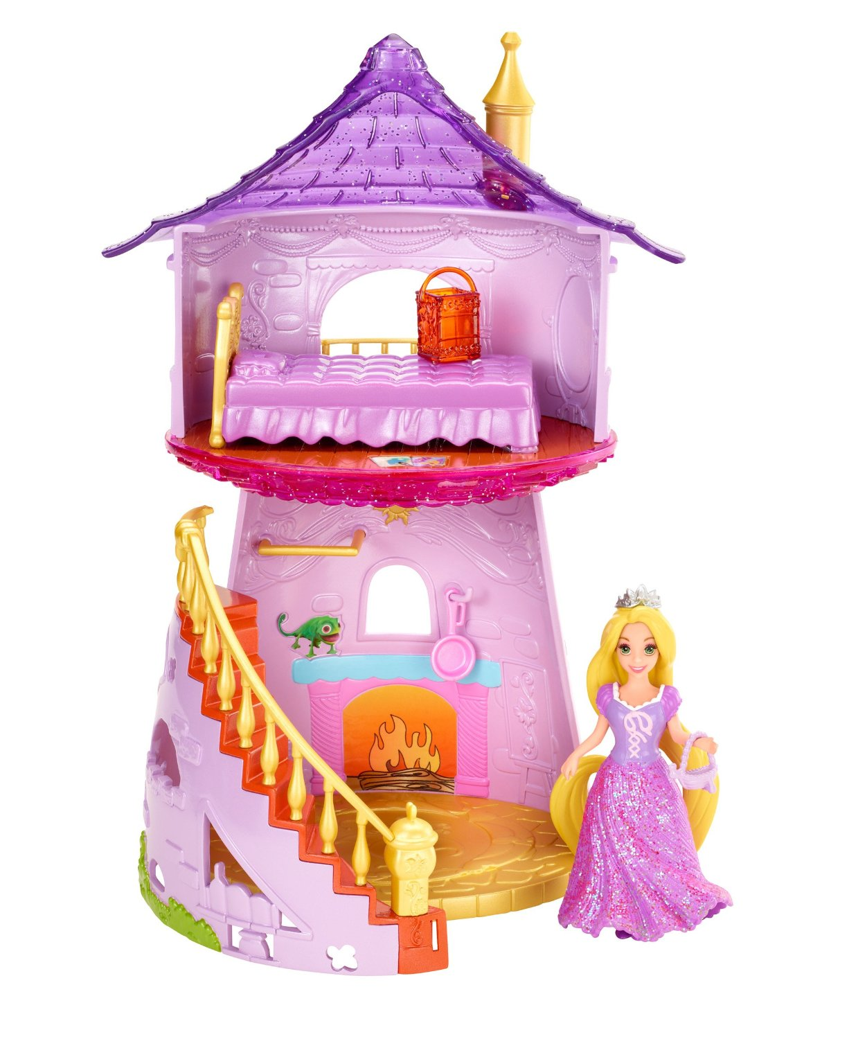 Disney Princess Little Kingdom MagiClip Rapunzel Playset Only 1698 Sisters Shopping Farm And