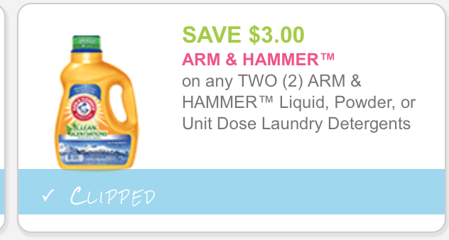 Printable coupons for arm and hammer laundry soap