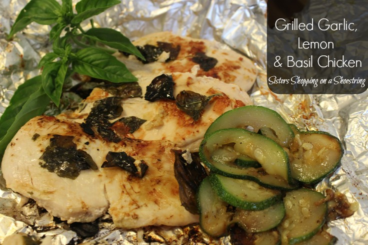 garlic, lemon, basil chicken