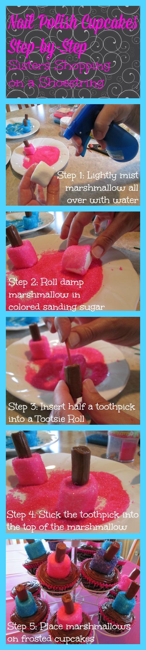nail polish cupcakes step by step