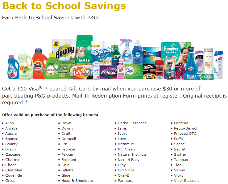 Procter and gamble coupons august 2019