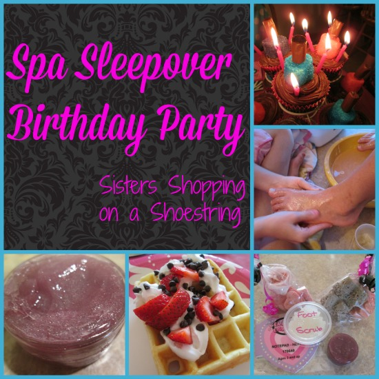 spa sleepover party