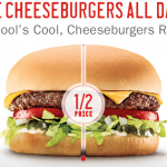 sonic half price cheeseburger