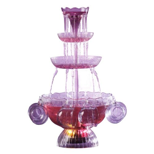 Nostalgia electrics lighted party beverage fountain only for Decor 5 5 litre drink fountain