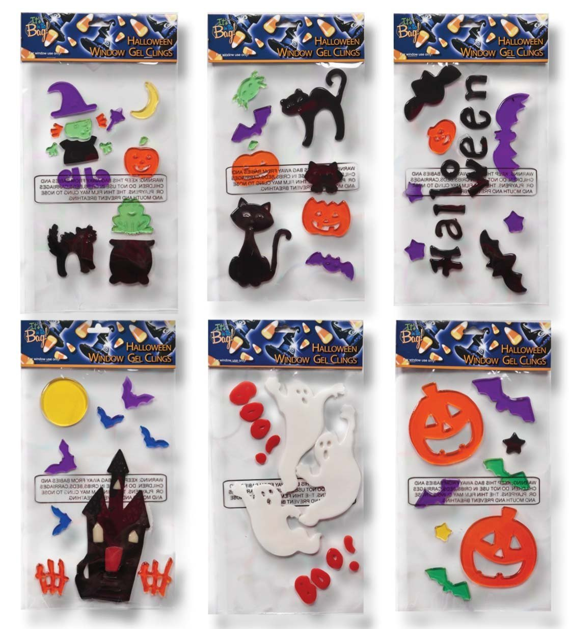 6 halloween window gel clings only $13.95 (reg. $25) – sisters