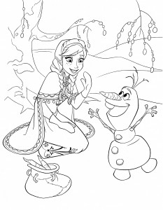 Frozen-Coloring-Page-Anna-Olaf-233x300