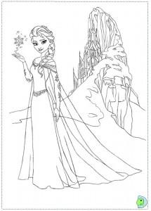 Frozen-Coloring-Page-Elsa-Castle-215x300