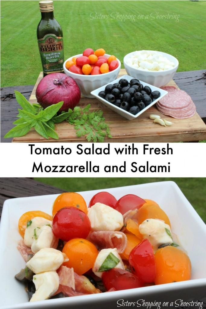 Tomato, Mozzarella and Salami Salad