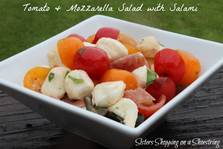 Tomato, Mozzarella and Salami salad