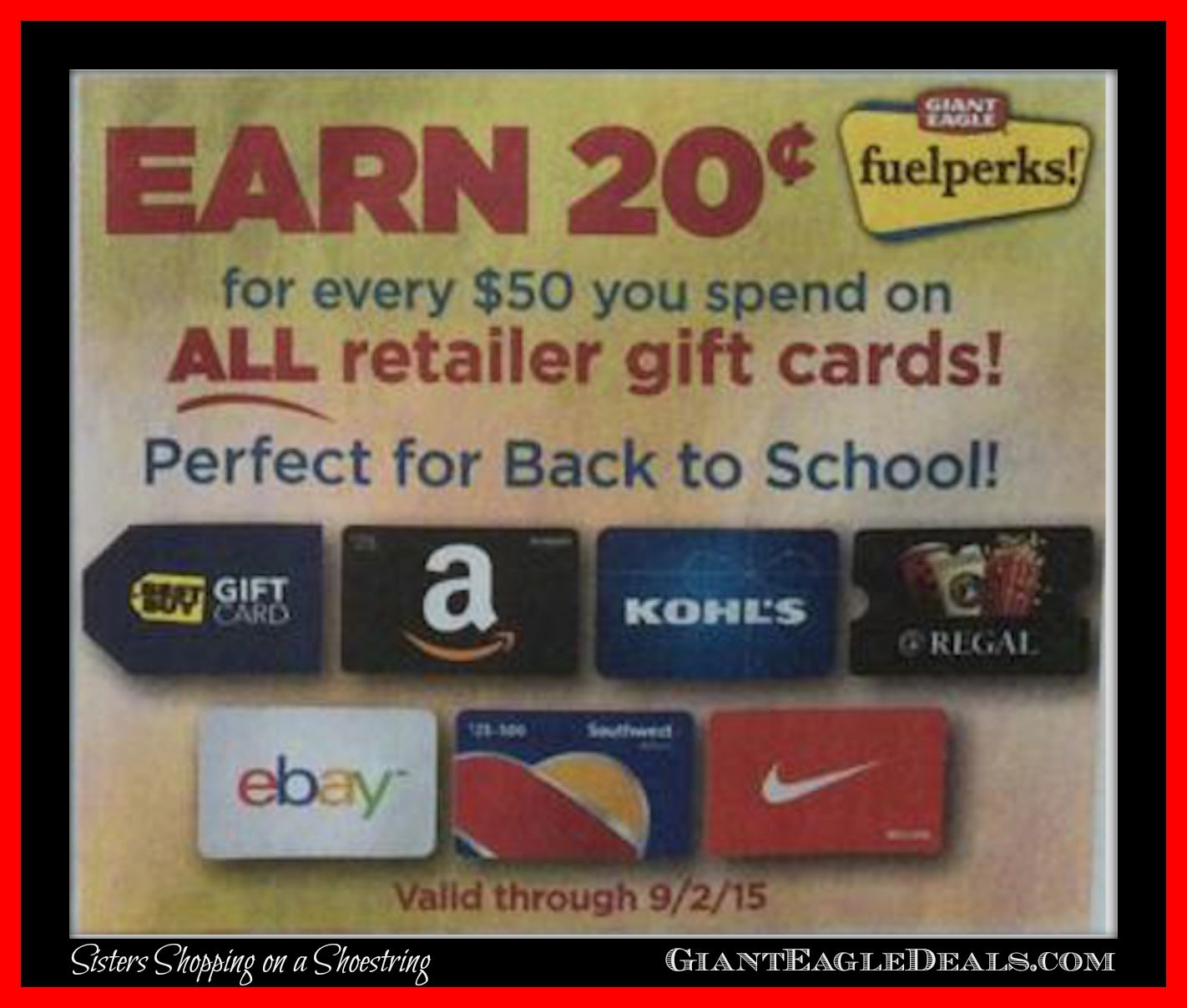 Buy A $100 Giant Eagle Gift Card Today, Receive A $10