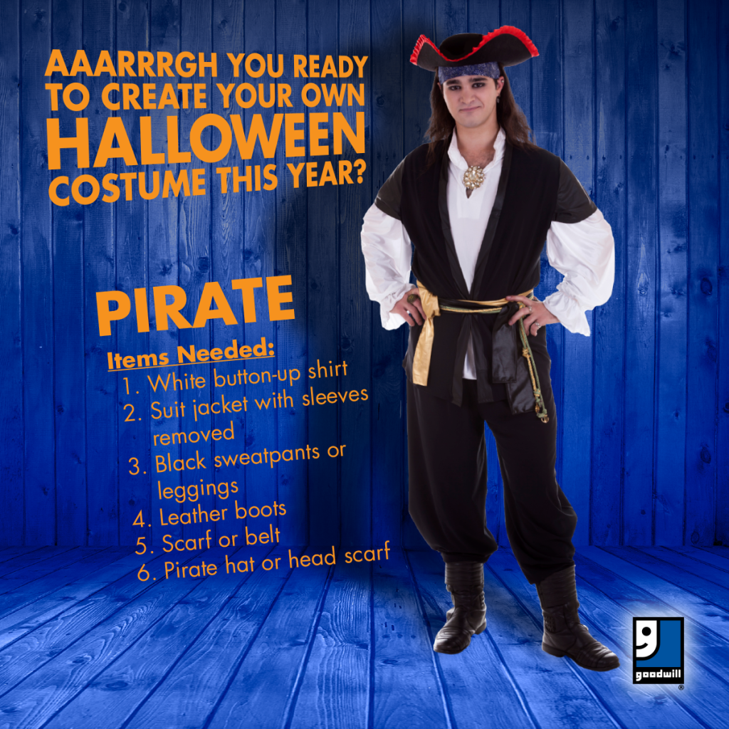 Create your own standard costume. Baseball_Facebook-1024x1024 · Pirate_Facebook-1024x1024  sc 1 st  Goodwill Industries of Akron & Halloween Costume Ideas - goodwillakron.org goodwillakron.org