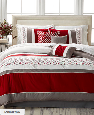 Elegant Fletcher Red Pc Comforter Set for as low as shipped