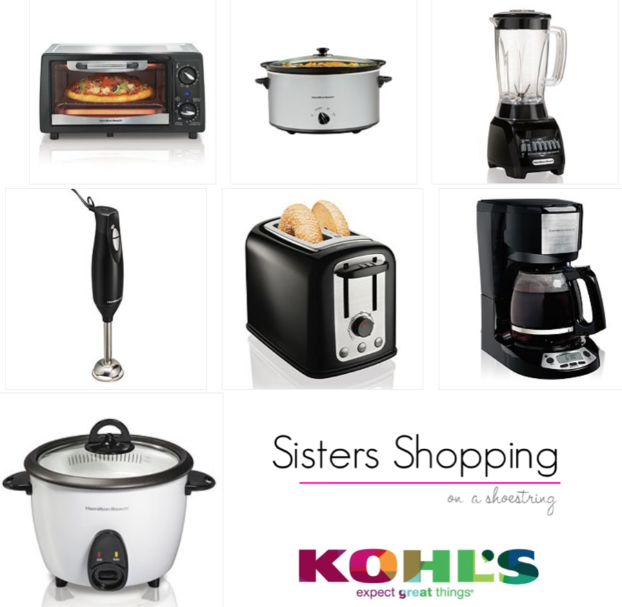 kohl's deal! ~ get 4 small appliances for as low as $1.46 + tax