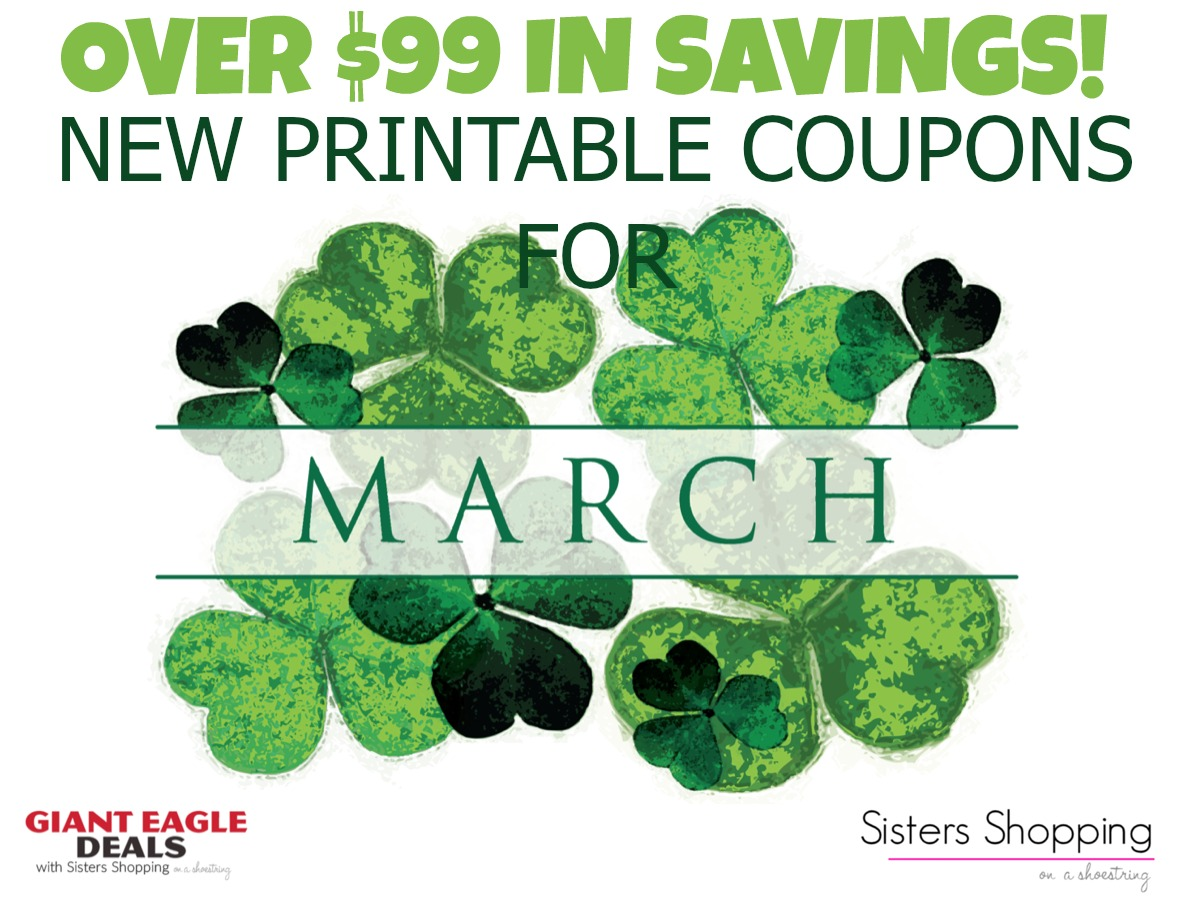 New Month New Printable Coupons Over 99 In Savings Sisters Shopping Farm And Home